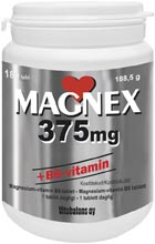 Magnex 375mg + B6-vitamin 180st