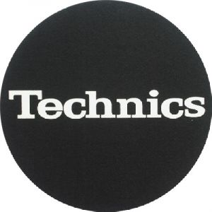 Slipmat Technics Logo white Twin pack