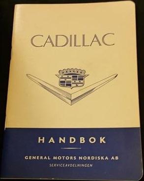 1955 Cadillac Handbok svensk