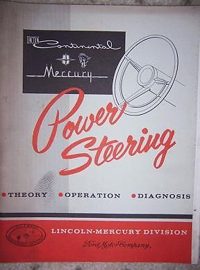 1961 Lincoln Continental, Mercury Power Steering Handbook