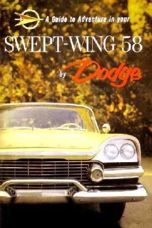 1958 Dodge Owners Manual