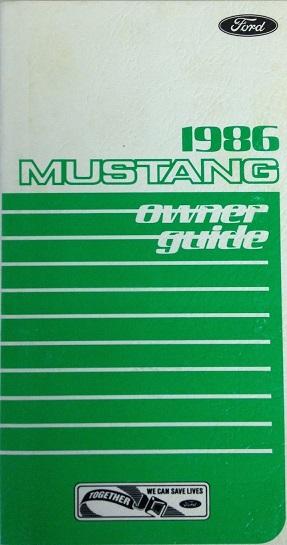 1986 Mustang Owner Guide