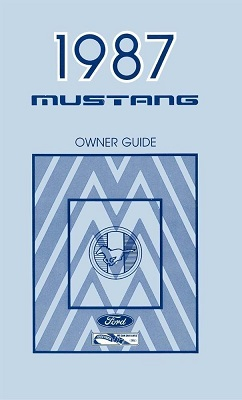 1987 Ford Mustang Owner's Manual