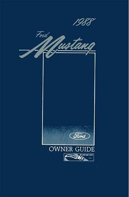 1988 Mustang Owner's Manual