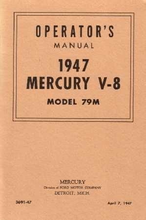 1947 Mercury Operator's Manual