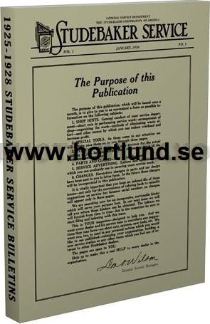 1925 - 1928 Studebaker Service Bulletiner alla modeller