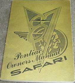 1987 Pontiac Safari Owners Manual