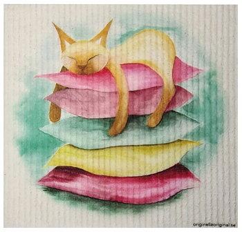 Disktraska med kattmotiv Stillhet