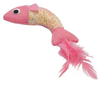 Kattleksak Mermaid fisk rosa