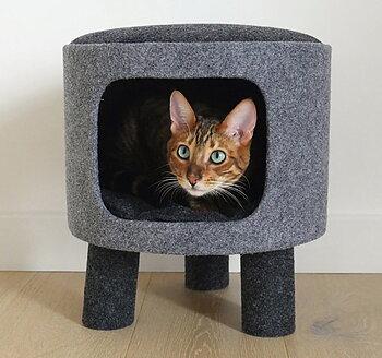 Kattpall med krypin Charcoal