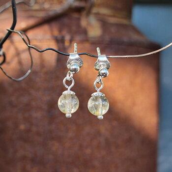 Citrine Earrings - 925 Sterling Silver