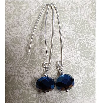Handmade Dangle Earrings - 925 Sterling Silver