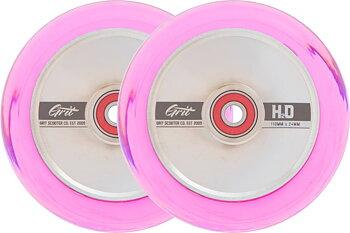 Grit H2O Sparkcykel hjul 2-Pack -  Färg: Trans Pink/Polished