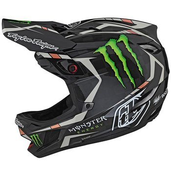 TROY LEE DESIGNS D4 CARBON HELMET MONSTER FAIRCLOUGH, BLACK