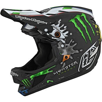 TROY LEE DESIGNS D4 CARBON MIPS HELMET MONSTER ZINK, BLACK