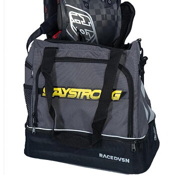 Stay Strong Race DVSN Helmet / Kit Bag Grey/Black