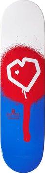 """Blueprint Spray Heart Skateboard Bräda -  Färg: Röd - Storlek: 8.125"""""""