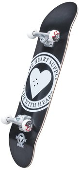 Heart Supply Logo Komplett Skateboard Färg: Svart/Vit Badge Storlek: 8""