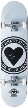 Heart Supply Logo Komplett Skateboard Färg:Vit Badge Storlek: 8""