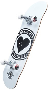Heart Supply Logo Komplett Skateboard Färg:Vit Badge Storlek: 8.25""
