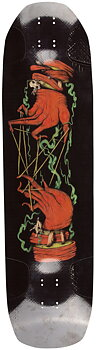 "Rayne Darkside V3 Longboard Deck -  Färg: Svart/Röd/Grön - Längd: 38"""