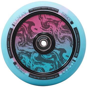 Lucky Lunar 120mm Sparkcykel Hjul Färg: Rush Pink/Blue Swirl