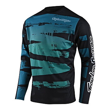 SPRINT JERSEY BRUSHED : COLOUR: MARINE/TEAL