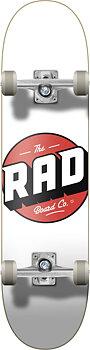 """RAD Logo Progressive Komplett Skateboard -  Färg: Vit - Storlek: 8"""""""