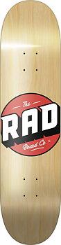 """RAD Solid Logo Skateboard Bräda -  Färg: Wood - Storlek: 8.25"""""""