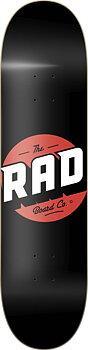 """RAD Solid Logo Skateboard Bräda -  Färg: Svart - Storlek: 7.75"""""""