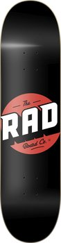 """RAD Solid Logo Skateboard Bräda -  Färg: Svart - Storlek: 8"""""""