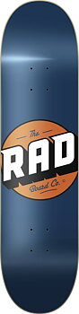 """RAD Solid Logo Skateboard Bräda -  Färg: Navy - Storlek: 7.75"""""""