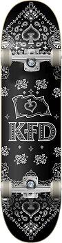 """KFD Bandana Komplett Skateboard -  Färg: Svart - Storlek: 8"""""""