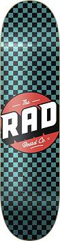"""RAD Checker Skateboard Bräda -  Färg: Svart/Turkos - Storlek: 8"""""""