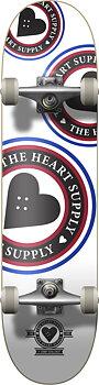 """Heart Supply Orbit Logo Komplett Skateboard -  Färg: Vit - Storlek: 8"""""""