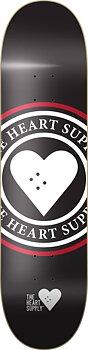 """Heart Supply Insignia Skateboard Bräda -  Färg: Svart - Storlek: 8"""""""