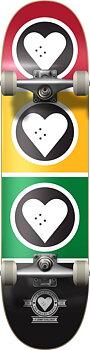 """Heart Supply Squad Komplett Skateboard -  Färg: Rasta - Storlek: 8"""""""