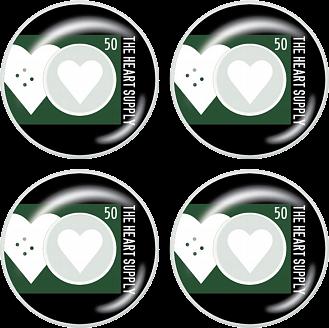 Heart Supply Even Skateboard Hjul 4-Pack -  Färg: Grön