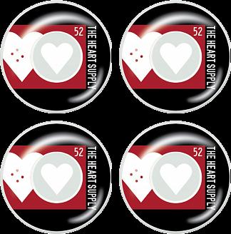 Heart Supply Even Skateboard Hjul 4-Pack -  Färg: Röd