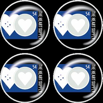 Heart Supply Even Skateboard Hjul 4-Pack -  Färg: Blå