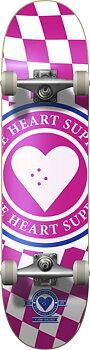 """Heart Supply Insignia Check Komplett Skateboard -  Färg: Rosa - Storlek: 7.75"""""""