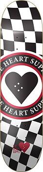 """Heart Supply Insignia Check Skateboard Bräda -  Färg: Svart - Storlek: 8"""""""