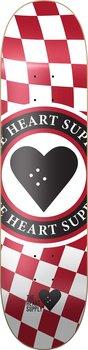 """Heart Supply Insignia Check Skateboard Bräda -  Färg: Röd - Storlek: 8.25"""""""
