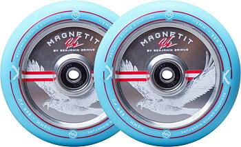 Striker Bgseakk Magnetit Sparkcykel Hjul 2-Pack -  Färg: Turkos - Storlek: 110mm