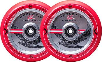 Striker Bgseakk Magnetit Sparkcykel Hjul 2-Pack -  Färg: Röd - Storlek: 110mm