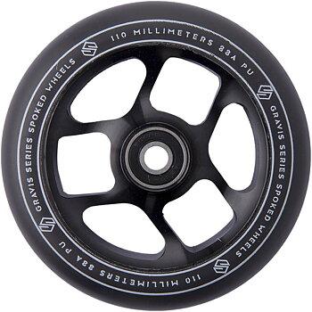 Striker Gravis Spoked Sparkcykel Hjul -  Färg: Svart - Storlek: 110mm