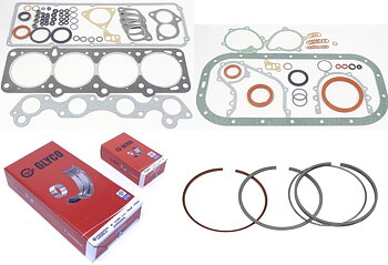 Restoration kit Volvo B230 gaskets bearings rings
