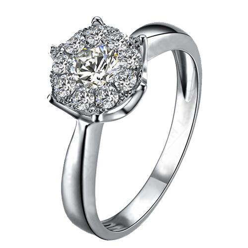 vigselring silver diamant