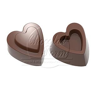 """Pralinform från CW """"hjärtan i par"""""""