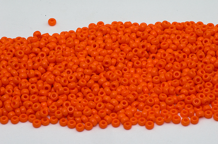 Japanese Seed Beads Miyuki 150 RR-4454 Duracoat Opaque Kumquat Orange seed beads